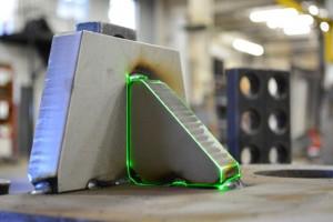 3D Laser Projected Gusset